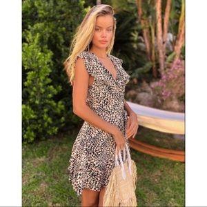 ✨LIKE NEW✨Free People Cheetah Wrap Dress